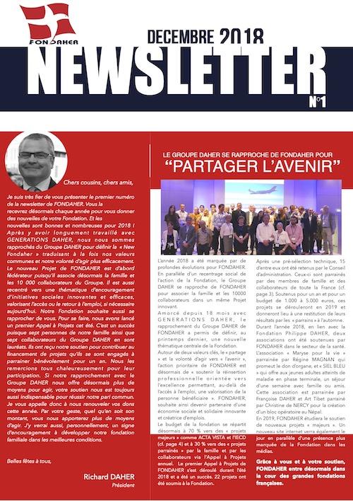 Newsletter Fondaher 2018